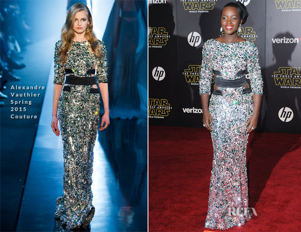 Lupita Nyong'o In Alexandre Vauthier Couture - 'Star Wars The Force Awakens' LA Premiere