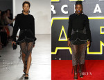 Lupita Nyong'o In Proenza Schouler  - 'Star Wars: The Force Awakens' London Premiere