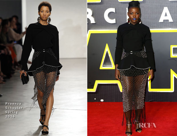 Lupita Nyong'o In Proenza Schouler  - 'Star Wars The Force Awakens' London Premiere