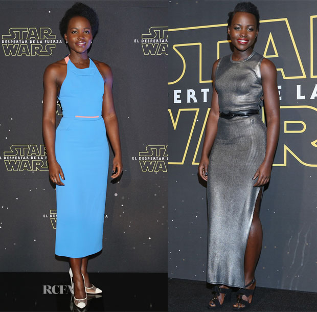 Lupita Nyong'o In Roland Mouret & Louis Vuitton - Star Wars Mexico City Premiere & Fan Event