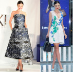 Miranda Kerr In Monique Lhuillier & Osman - Samantha Thavasa & Swarovski Photocalls