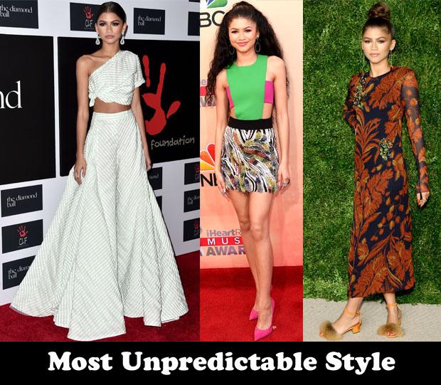 Most Unpredictable Style - Zendaya Coleman