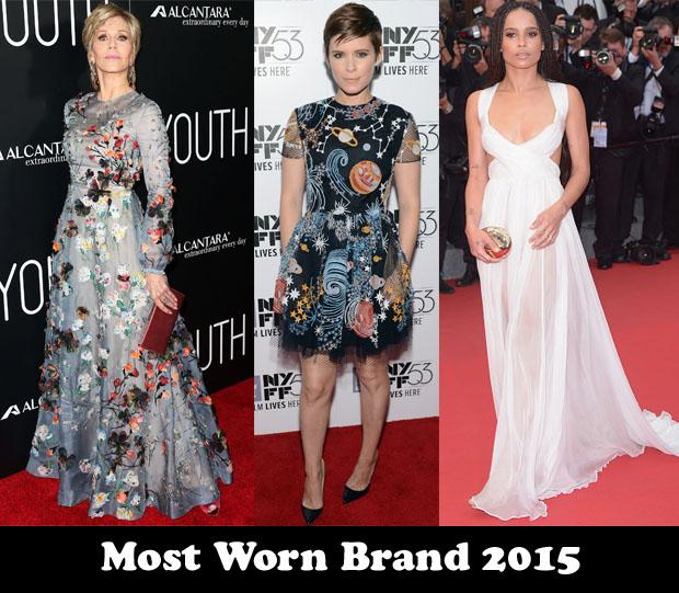 Most Worn Brand 2015 – Valentino
