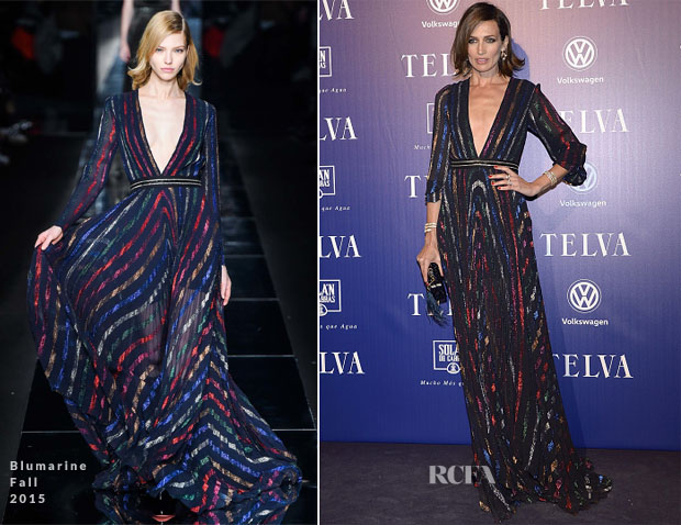 Nieves Alvarez In Blumarine -  2015 Telva Awards