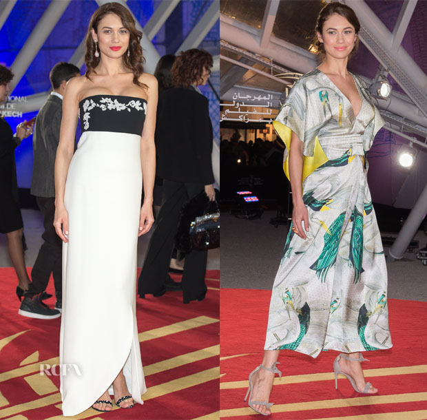 Olga Kurylenko In Christian Dior & Temperley London - 2015 Marrakech International Film Festival