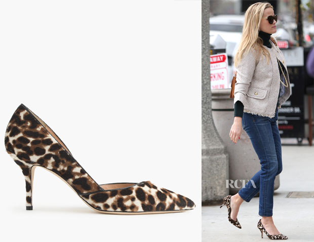 Reese Witherspoon's J Crew Leopard Pumps