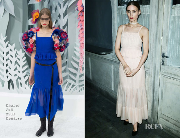 Rooney Mara In Chanel Couture - Chanel Metiers d'Art 201516 Fashion Show