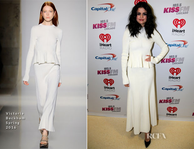Selena Gomez In Victoria Beckham - 1035 KISS FM's Jingle Ball 2015