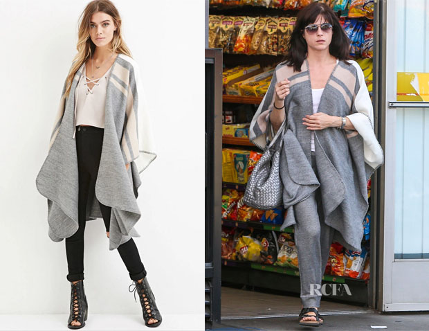 Selma Blair's Forever 21 Heathered Shawl Poncho