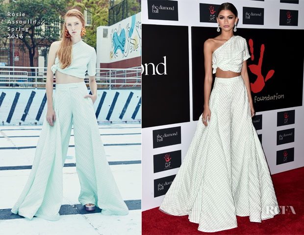 Zendaya Coleman In Rosie Assoulin - The Clara Lionel Foundation 2nd Annual Diamond Ball