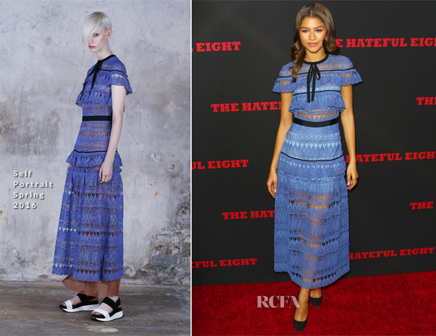 Zendaya Coleman In Self-Portrait - 'The Hateful Eight' LA Premiere