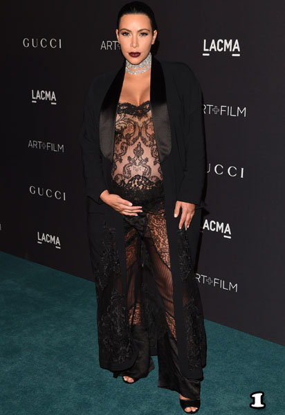 LOS ANGELES, CA - NOVEMBER 07:  TV personality Kim Kardashian attends LACMA 2015 Art+Film Gala Honoring James Turrell and Alejandro G Iñárritu, Presented by Gucci at LACMA on November 7, 2015 in Los Angeles, California.  (Photo by Jason Merritt/Getty Images  for LACMA)