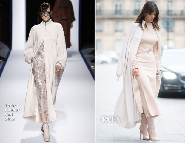 Alessandra Ambrosio In Alessandra Rich & Talbot Runhof - Out In Paris