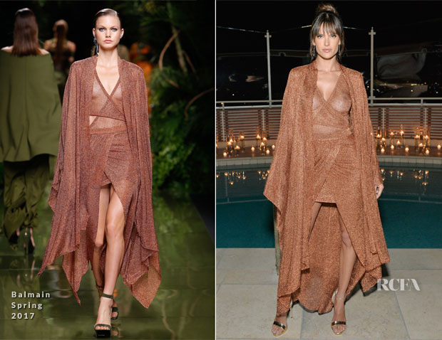 Alessandra Ambrosio In Balmain - Harper's Bazaar Celebrates 150 Most Fashionable Women