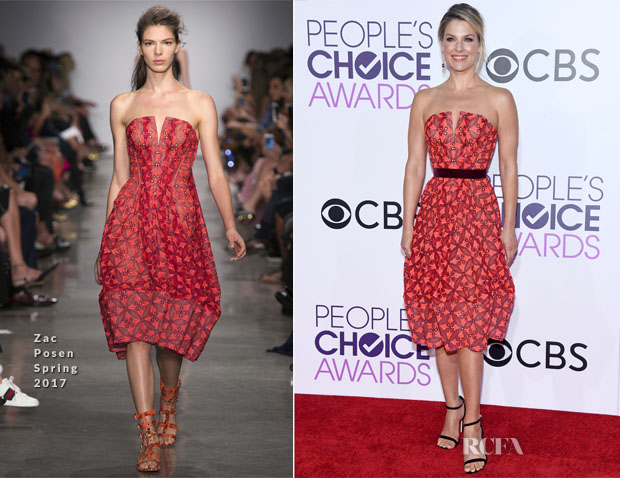 Ali Larter In Zac Posen - 2017 People's Choice Awards