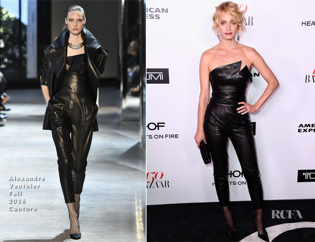 Amber Valetta In Alexandre Vauthier Couture - Harper's Bazaar Celebrates 150 Most Fashionable Women