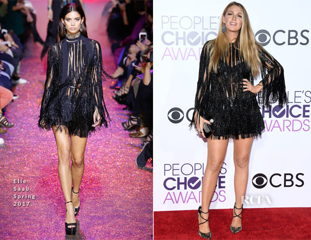Blake Lively In Elie Saab - 2017 People's Choice Awards