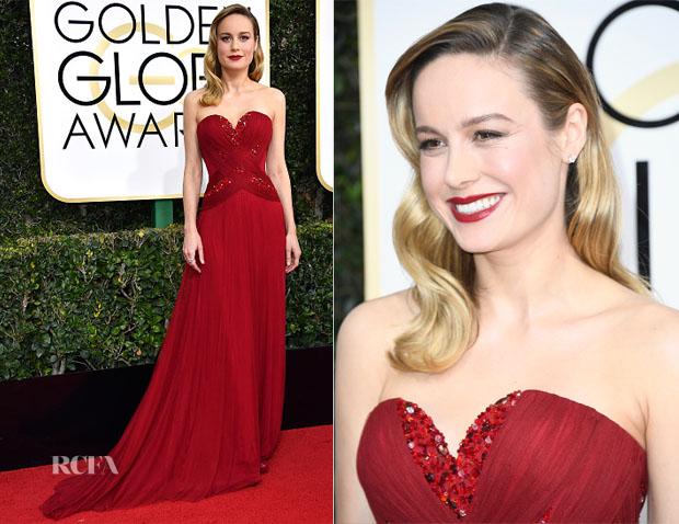 Brie Larson In Rodarte - 2017 Golden Globe Awards