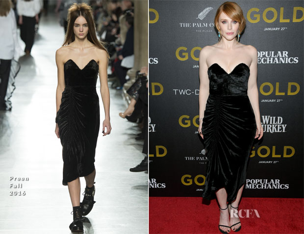 Bryce Dallas Howard In Preen by Thornton Bregazzi - 'Gold' New York Premiere