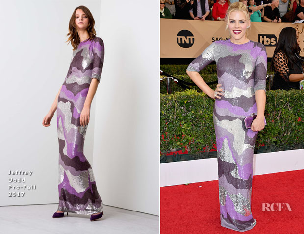 Busy Phillips In Jeffrey Dodd - 2017 SAG Awards
