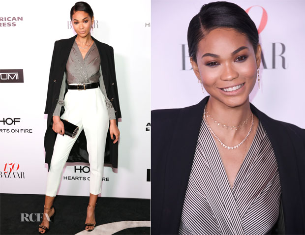 Chanel Iman In Elisabetta Franchi - Harper's Bazaar Celebrates 150 Most Fashionable Women