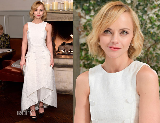 Christina Ricci In Antonio Berardi, Carolina Herrera & Monse - W Magazine's It Girls, BAFTA Tea Party & 2017 Golden Globes Party