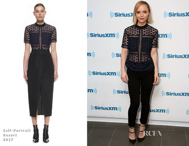 Christina Ricci In Self-Portrait & Nobody Denim - SiriusXM Studios