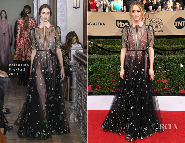 Claire Foy In Valentino - 2017 SAG Awards