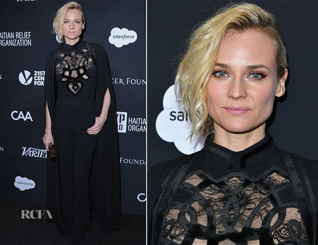 Diane Kruger In Elie Saab & Nina Ricci - HAITI RISING Gala & 2017 Golden Globe Party
