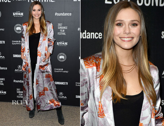 Elizabeth Olsen In Dries van Noten - 'Wind Dance' Sundance Film Festival Premiere