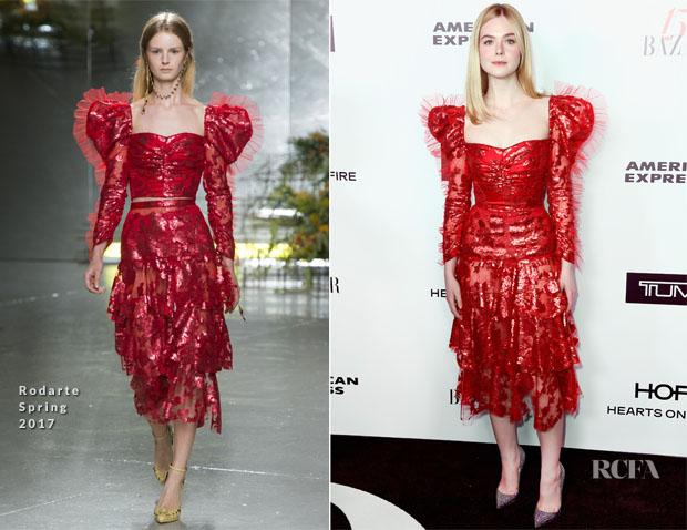 Elle Fanning In Rodarte - Harper's Bazaar Celebrates 150 Most Fashionable Women