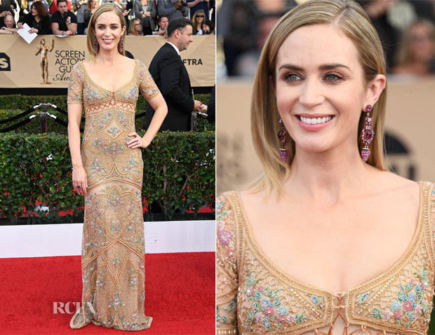 Emily Blunt In Cavalli Couture - 2017 SAG Awards