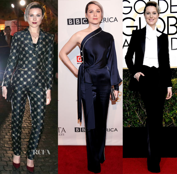 Evan Rachel Wood In Alberta Ferretti, Jonathan Simkhai & Alturazza - W Magazine Party, BAFTA Tea Party & Golden Globe Awards
