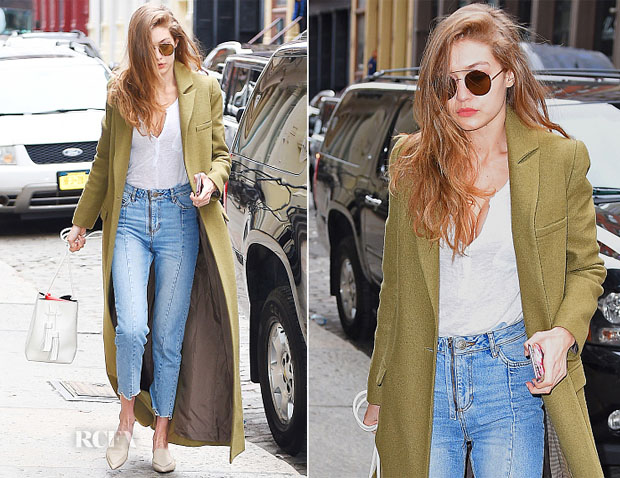 Gigi Hadid In Zimmermann & Sandro - Out In New York City