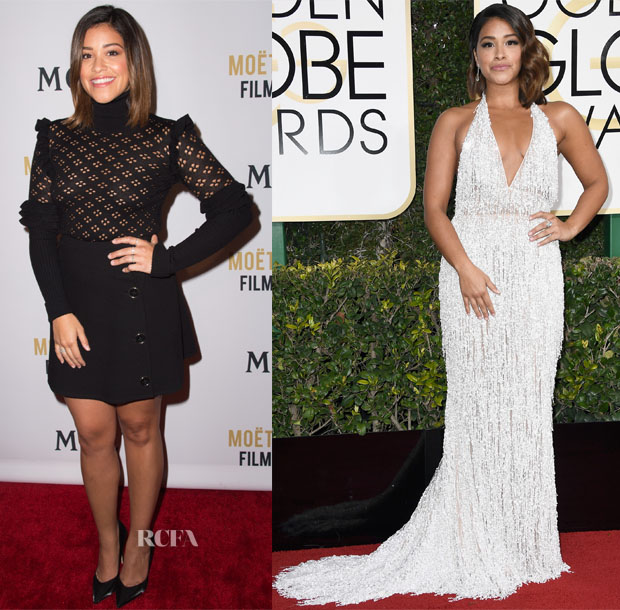 Gina Rodriguez In Jill Stuart & Naeem Khan - 2017 Golden Globe Awards
