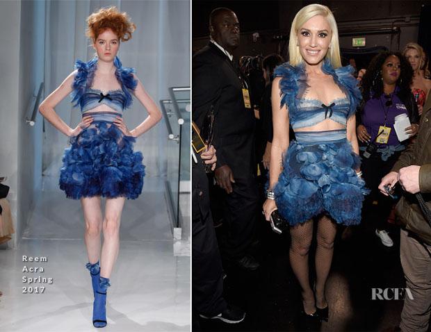 Gwen Stefani In Reem Acra - 2017 People's Choice Awards
