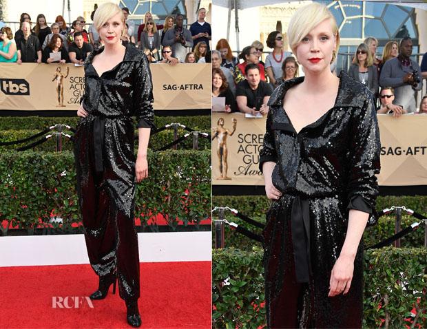 Gwendoline Christie In Vivienne Westwood Couture - 2017 SAG Awards
