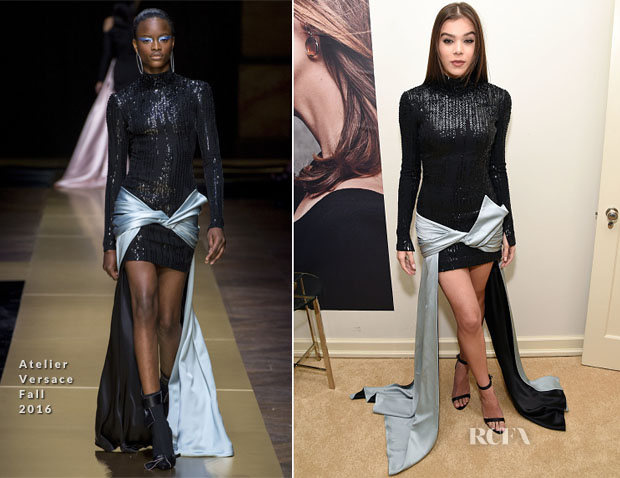 Hailee Steinfeld In Atelier Versace, Elie Saab & Vera Wang - W Magazine Party, BAFTA Tea Party & Golden Globe Awards
