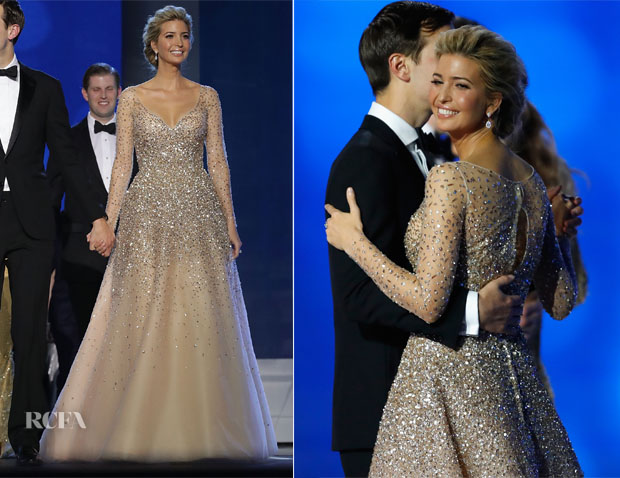 Ivanka Trump In Carolina Herrera - Inauguration Balls