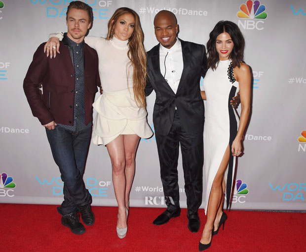 Jennifer Lopez In Chloe & J.W. Anderson & Jenna Dewan Tatum In David Koma - NBC's 'World Of Dance' Photocall