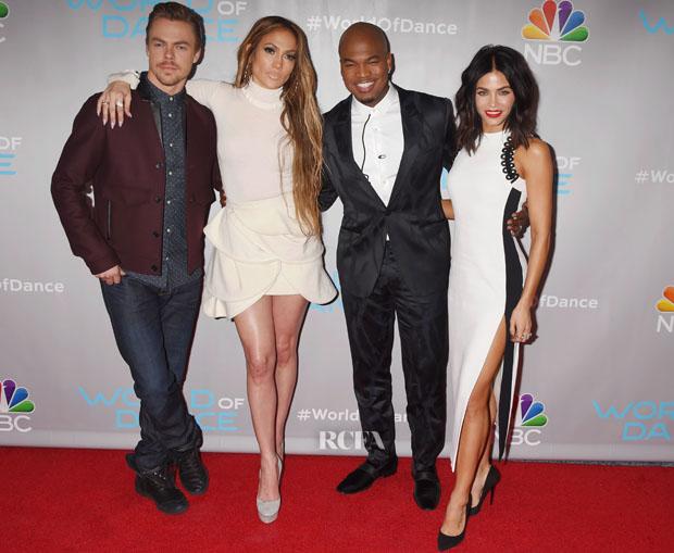 Jennifer Lopez In Chloe & J.W. Anderson & Jenna Dewan Tatum In David Koma - NBC's 'World Of Dance' Photocall