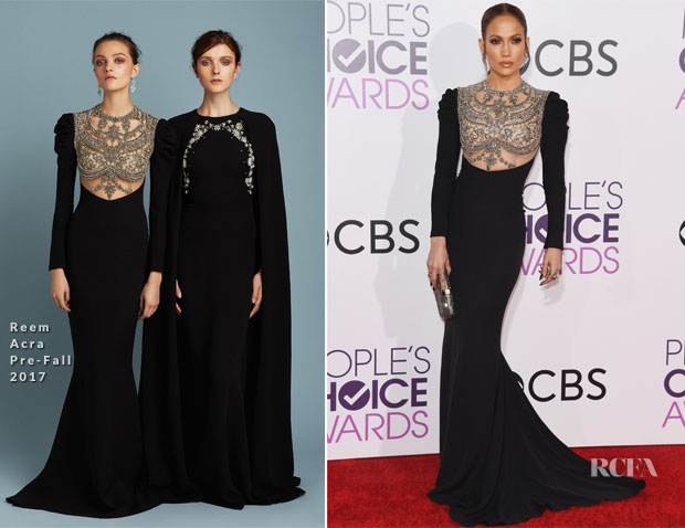 Jennifer Lopez Reem Acra - 2017 People's Choice Awards