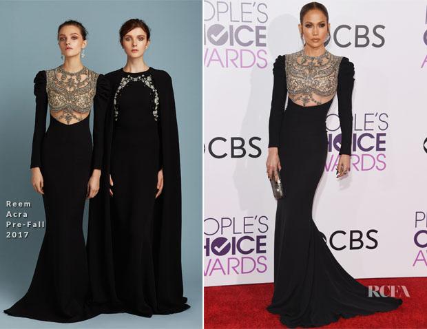 Jennifer Lopez Reem Acra - 2017 People's Choice Awards