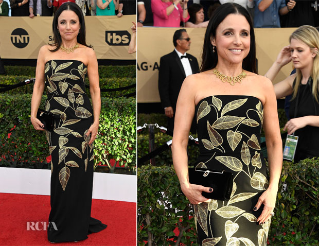 Julia Louis-Dreyfus In Lela Rose - 2017 SAG Awards
