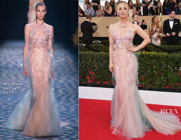 Kaley Cuoco In Marchesa - 2017 SAG Awards