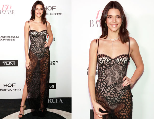 Kendall Jenner In La Perla  - Harper's Bazaar Celebrates 150 Most Fashionable Women