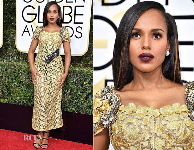 Kerry Washington in Dolce & Gabbana - 2017 Golden Globe Awards