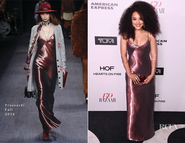 Kiersey Clemons In Trussardi - Harper's Bazaar Celebrates 150 Most Fashionable Women