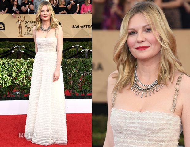 Kirsten Dunst In Christian Dior - 2017 SAG Awards - Red ...