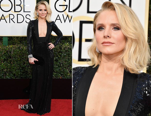Kristen Bell In Jenny Packham - 2017 Golden Globe Awards